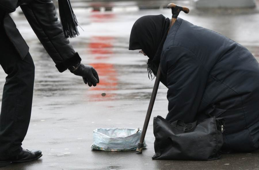 Beggars in Moscow